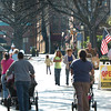 Newburyport: Yesterday's nice weather brough many  people out to downtown Newburyport as school was out and scores of people were in town to see the Veteran's Day Parade. Bryan Eaton/Staff Photo