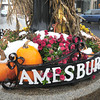 Amesbury: The frost wasn't on the pumpkin, but the snow certainly was in downtown Amesbury after the nor'easter dumped over an inch of snow before turning to rain. Bryan Eaton/Staff Photo