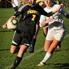 Newburyport: Newburyport's Maryam Moshrefi follows Bishop Fenwick's Ali MacDonald. Bryan Eaton/Staff Photo