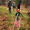Salisbury: A half dozen Salisbury youngsters volunteered their time to help clean up leaves and debris at the Long Hill Cemetery on Beach Road on Sunday. Some branches had fallen likely from Hurricane Sandy and a couple headstones were tipped, though some adults helping thought that could have been caused by vandals and not necessarily the storm. Bryan Eaton/Staff Photo