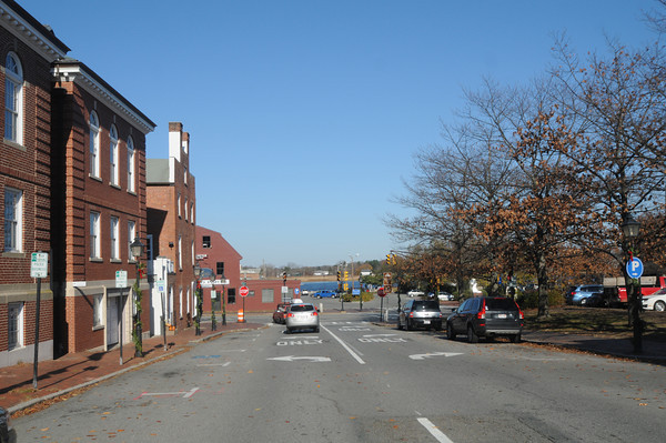 Newburyport: View down Green Street to what was Samerby Landing in Newburyport. Jim Vaiknoras/staff photo