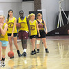 Newburyport: The Newburyport High girl JV basketball team runs a layup drill at the high school Thursday. JIm Vaiknoras/staff photo