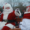 Newburyport: Santa and Mrs Claus ride in the annual parade and tree lighting Newburyport Sunday. Jim Vaiknoras/staff photo