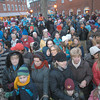 Newburyport: Crowds fill Market Square in Newburypor for the annual parade and tree lighting Sunday. Jim Vaiknoras/staff photo