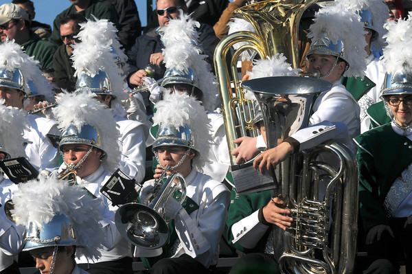 West Newbury: Pentucket's band performs during  the Sachem's 41-12 victory over Triton. JIm Vaiknoras/staff photo