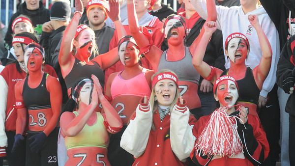 Amesbury: Amesbury fan cheer during  their team's 13-10 victory against Newburyport Thursday. JIm Vaiknoras/staff photo