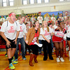 Amesbury: Senior shout out the work turkey at the Amesbury high Spirit Rally Wednesday in the Gym at the school. Jim Vaiknoras/staff photo