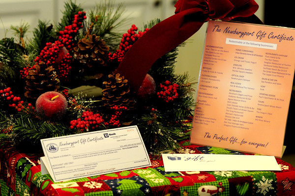 Newburyport: Newburyport Gift Certificate. Jim Vaiknoras/staff photo