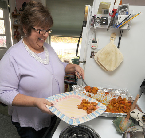 Amesbury: Cook of the Month Kathy Gaiero at her Amesbury home. Jim Vaiknoras/staff photo
