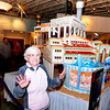 "salisbury:Lifelong Salisbury resident and the town's 1st Kindergarten teacher, 91-year-old Millie Greaney dances to ""Sugar, Sugar"" by the Archies at the unvieling of a Ginger Bead House honoring  Salisbury Beach landmarks from the early 1900s to today at The Pavilion at Salisbury Beach Thursday. Jim Vaiknoras/staff photo"