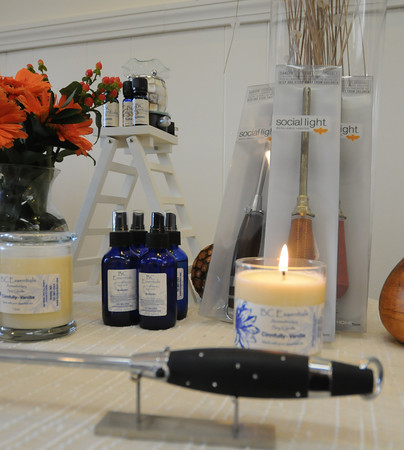 Newburyport: Candles and refillable lighter at BC essentials in Newburyport. Jim Vaiknoras/staff photo