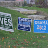 Newburyport: Signs for Democratic candidates in Newburyport along Merrimac Street. Jim Vaiknoras/staff photo