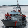 Newburyport: The Coast Guard brings in Santa and Mrs Claus to Newburyport for the annual parade and tree lighting Sunday. Jim Vaiknoras/staff photo
