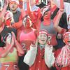 Amesbury: Amesbury fans cheer during  their team's 13-10 victory against Newburyport Thursday. JIm Vaiknoras/staff photo