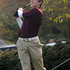 Rockport: Newburyport's Brendon Crowther tees of at the first hole during the Clippers match against Rockport at Rockport Country Club Monday. Jim Vaiknoras/staff photo