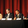 Newburyport: Candidates running for the region's 1st Essex state Senate seat take part in a debate at Newburyport High School from left.Democratic candidate, Kathleen O'Connor Ives Independent candidate, Jim Kelcourse; Republican candidate, Shaun Toohey;  and Independent candidate, Paul Magliocchetti.The event is co-sponsored by The Daily News, WNBP radio 1450, PortMedia community cable station, and the Greater Newburyport Chamber of Commerce and Industry.Jim Vaiknoras/staff photo