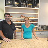 Rowley:Archie Rudolph and Linda Ginnell at Archie's Cafe in downtown Rowley. Jim Vaiknoras/staff photo
