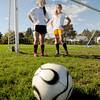 Newburyport: Newburyport soccer defenders Jackie Krusemark and Aly Leahy. Jim Vaiknoras/staff photo