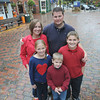 "Newburyport: Rachel Doucette with her family , her husband Mike, daughter Rebecca, 8, son, Ben , 6, and son Jim, 10. Doucette, who lives in Georgetown, has been named as one of six MA women to be a ""Go Red for Women"" ambassador for the American Heart Association for this year. Jim Vaiknoras/staff photo"