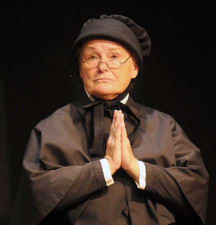 "Newburyport: Kathy Isabell in a rehearsal for ""Doubt"" at the Firehouse in Newburyport. Jim Vaiknoras/staff photo"