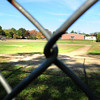 Newburyport: The baseball field behind the Bresnahan School as seen through the backstop. The field will be replaced by the new school being built on the site. Bryan Eaton/Staff Photo