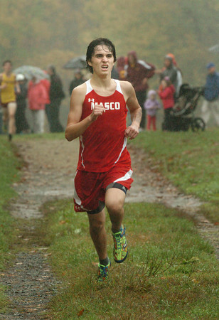 Newburyport: Masconomet's Harrison Kent is the first on his team to cross the finish line in a meet with Newburyport. Bryan Eaton/Staff Photo