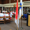 Byfield: 23 Triton students are acting as ambassadors to 23 students visiting from La Roche Sur Yon, France to participate in the Triton Regional High School/Lycée Saint Joseph La Roche bi-annual Franco-American Exchange and they joined for a Principal's Luncheon in the school's library on Wednesday. The Triton students will visit their counterparts in France next April. Bryan Eaton/Staff Photo
