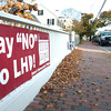 Newburyport: Anti LHD sign. Bryan Eaton/Staff Photo