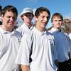 Byfield: Winning players of the Triton High golf team, from left, Kyle Hillick, Ryan Perelli, Jon Seward, Zack D'Agostino, Mike Shea and Jack Cook. Bryan Eaton/Staff Photo
