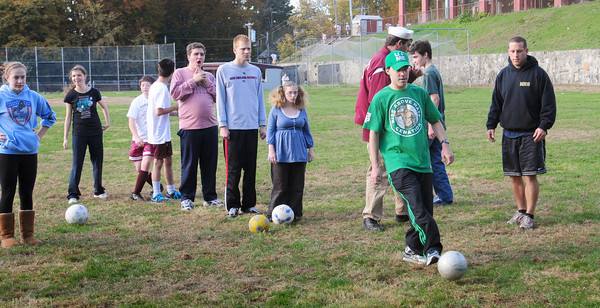 Newburyport: Newburyport High School students are coaching some youngsters in soccer for the Special Olympics. Bryan Eaton/Staff Photo