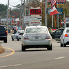 Seabrook: Discussions are underway regarding the widening of Route One in Seabrook, here in a view looking south from the intersection of Route 107, two lanes merge into one creating backups during high traffic periods. Bryan Eaton/Staff Photo