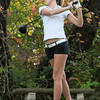 Newbury: Pentucket's Krystal Knight tees off at Ould Newbury Country Club yesterday. Bryan Eaton/Staff Photo