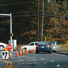 Salisbury: Power was still out Tuesday in parts of Salisbury and Amesbury. Here at Cross Roads Plaza in Salisbury, as well at the intersection of Route 110 at Elm Street, cones and temporary signs directed traffic. Bryan Eaton/Staff Photo