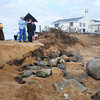Newbury: Scores of people came to Plum Island Center throughout the day Tuesday to check the surf and any damage to the beach. Bryan Eaton/Staff Photo