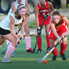 Amesbury: Masconomet's Maggie Moffet moves the ball past Newburyport's Emma Bartol. Bryan Eaton/Staff Photo