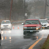Salisbury: Water on Route 1A at Salisbury Beach has flooded over from the marsh causing traffic to proceed slowly. Bryan Eaton/Staff Photo