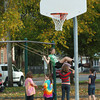Newburyport: With temperatures in the mid-70's children at the Kelley School Youth Center spent some time outside at the Kelley School playground on Monday afternoon. Bryan Eaton/Staff Photo