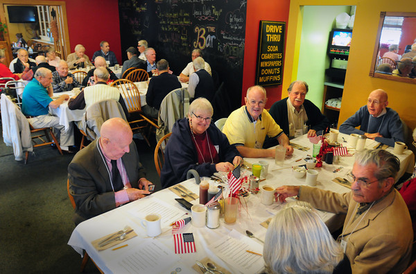 Amesbury: A group of people in Amesbury have taken up the cause of honoring Wold War II veterans because so few are left.The group has a breakfast once a month or so for the veterans and their families, which has been tremendously received by them. The group hopes other communities in the Greater Haverhill-Newburyport region will use their meals as a model and also honor their WWII vets. Bryan Eaton/Staff Photo