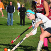 Byfield: Triton's Emily Hirtle moves to get the ball away from Newburyport's Lea Tomasz. Bryan Eaton/Staff Photo