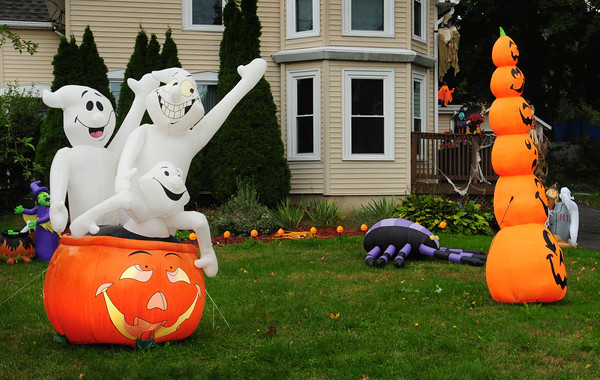 Amesbury: Halloween displays are popping up over the area as the spooky day becomes more and more popular. This scene was spotted on Market Street in Amesbury across from Cedar Street. Bryan Eaton/Staff Photo