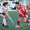 Amesbury: Newburyport's Paige Hefferan meets Masconomet's Maddie Doyle as she heads for the goal. Bryan Eaton/Staff Photo