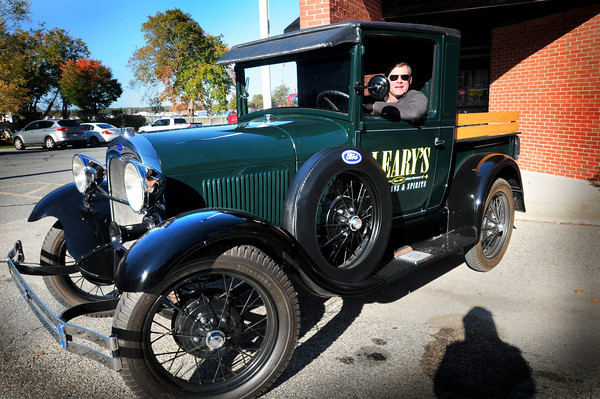 Newburyport: Todd Baltich of Leary's Wine and Spirits is using a vintage truck from 1929 to make special deliveries. Bryan Eaton/Staff Photo