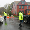 Newburyport: State and Newburyport Police were allowing only Plum Island residents and news media onto the island at a time on Monday morning. Bryan Eaton/Staff Photo