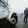 Salisbury: Utility crews were seen throughout the area Monday, here National Grid at Salisbury Beach. Bryan Eaton/Staff Photo