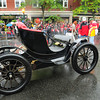 Amesbury: Bart Bailey had on display an electric car his family's company built a hundred years ago in Amesbury. Bryan Eaton/Staff Photo