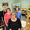 Newburyport: Committee members of the Wet Paint Auction, from left, Robert Scott Jackson, Kathleen Shaw, Jan DeSantis,  Donna Scott and Audrey Ladd. Bryan Eaton/Staff Photo