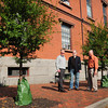 Newburyport: The new Newburyport Tree Commission is happy with the trees planted along Green Street next to City Hall. Members from left, Hugh Kelleher, Ed Taylor and Paul Bevilacqua. Bryan Eaton/Staff Photo