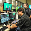Amesbury: Tony Noon, left, public access coordinator, and Patrick Clifford, government access coordinator, edit a program on access at the new Amesbury Senior Center space. After two years of preparations, upgrades and overhauls, Amesbury Community Television is ready for its close-up and looking to attract new members. Bryan Eaton/Staff Photo
