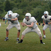 Byfield: Triton's football offence in practice yesterday afternoon/. Bryan Eaton/Staff Photo