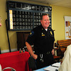 Salisbury: New Salisbury police chief Thomas Fowler meets senior citizens at the Hilton Center on Wednesday morning at the TRIAD meeting. The meetings are once a month where police give tips to seniors on safety, such as internet scams. Bryan Eaton/Staff Photo